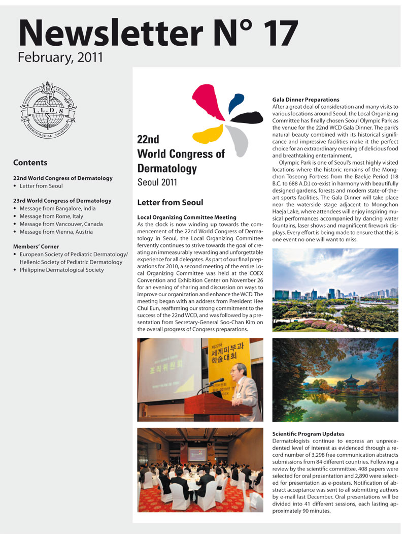Newsletter 17 della «International League of Dermatological Societies»